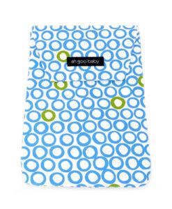 收納袋-藍綠泡泡-1