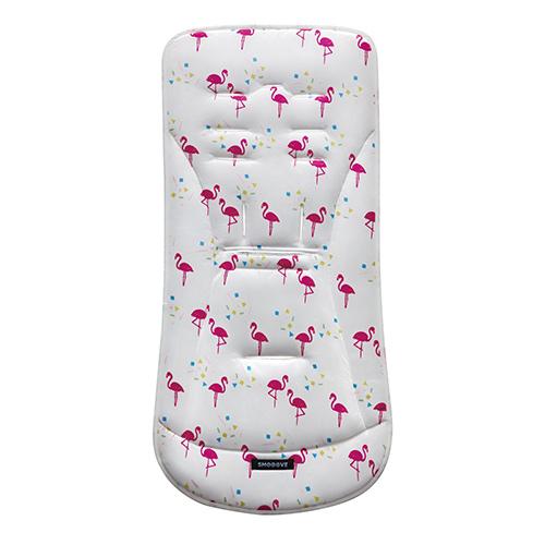 aprica-座墊-粉紅鶴