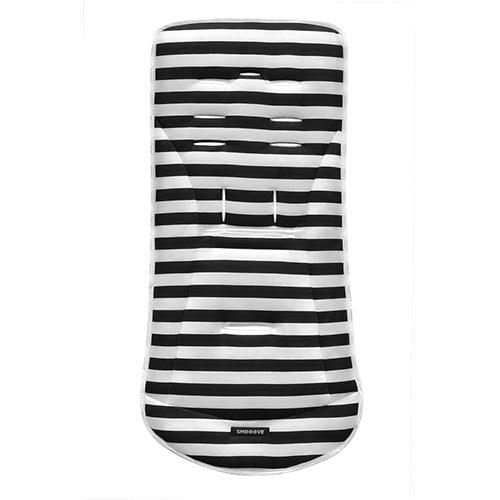 aprica-座墊-黑白條