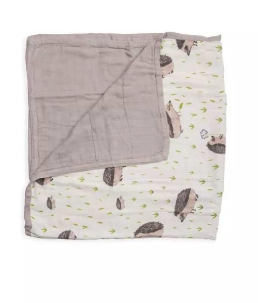 LittleUnicorn 竹纖維四層紗布毯 刺蝟紳士01