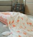LittleUnicorn 竹纖維四層紗布毯 熱帶紅鶴02