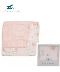 LittleUnicorn 竹纖維四層紗布毯 牡丹花香