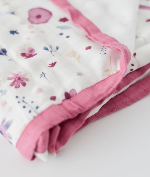 LittleUnicorn 竹纖維四層紗布毯 童話花園02