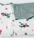 LittleUnicorn 竹纖維四層紗布毯 野莓果