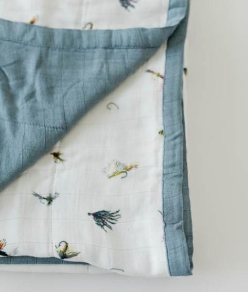 LittleUnicorn 竹纖維四層紗布毯 釣魚趣02