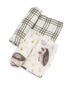 LittleUnicorn 竹纖維紗布巾兩入組 刺蝟紳士01