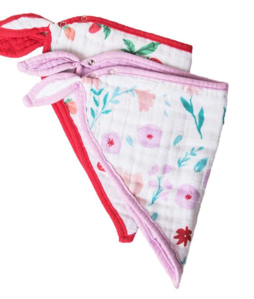 LittleUnicorn 純棉三角圍兜兩入組 莓花果香