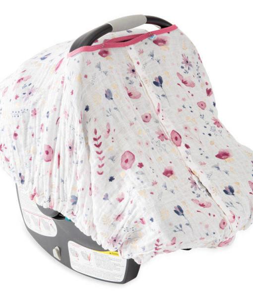 LittleUnicorn 純棉紗布提籃罩 童話花園
