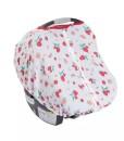 LittleUnicorn 純棉紗布提籃罩 草莓牛奶01
