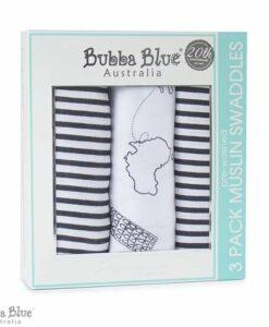 BubbaBlue 多用途紗布巾三入組 小小世界