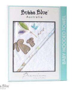 BubbaBlue 方形連帽浴巾 烏托邦兔