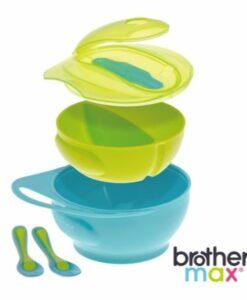 輕鬆握攜帶型學習碗 藍, 附感溫湯匙x2 02