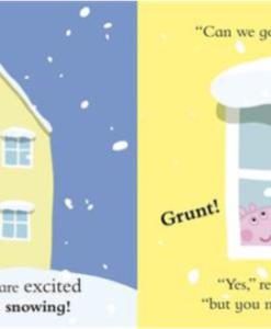 Peppa Pig:Snowy Fun 佩佩豬玩雪趣 精裝硬頁書01