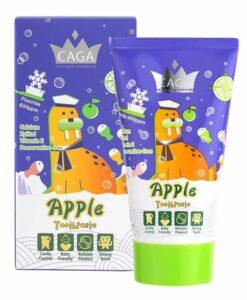 【CAGA】牙佳 兒童輕含氟牙膏(蘋果味) 50ml