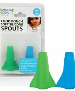 CherubBaby 副食品袋吸嘴 (藍綠組)01