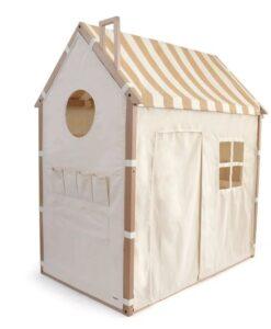 HOPPL House&Bed 兒童遊戲城堡屋-原木(框)條文米(布)01