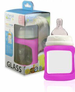 CherubBaby 防摔寬口玻璃奶瓶 150ml單入組-莓01