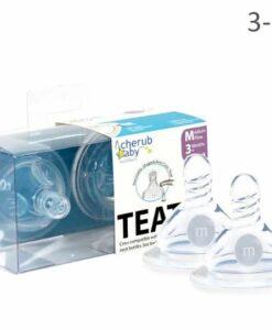 CherubBaby 防脹氣奶嘴兩入組 (寬口圓孔嬰兒款)01