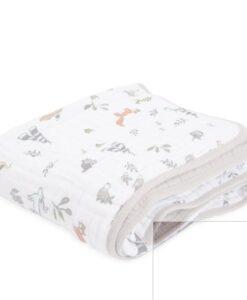 動物純棉四層紗布毯 動物森林2.0